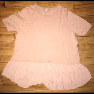 Woman's LOFT short sleeve shirt - Pale Pink